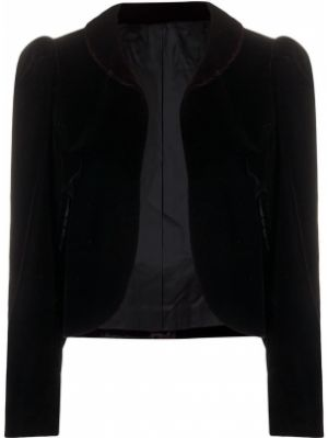 Черный приталенный удлиненный пиджак на пуговицах A.n.g.e.l.o. Vintage Cult