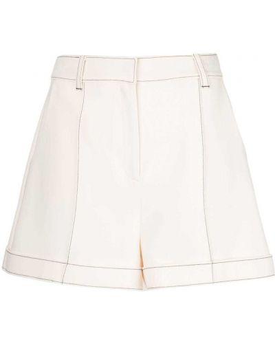 Белые шорты с карманами из вискозы с потайной застежкой Cinq À Sept