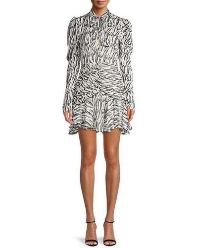 Платье мини с декольте с оборками Bardot