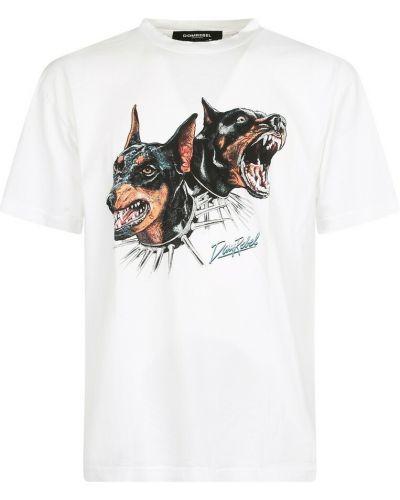Biała t-shirt Domrebel