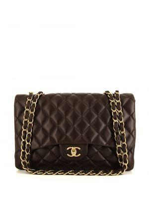 Коричневая кожаная сумка Chanel Pre-owned