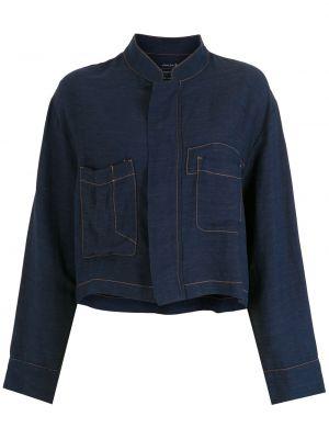Синее пальто с воротником Osklen