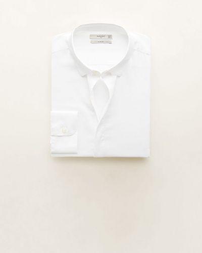 Рубашка с длинным рукавом в клетку однотонная Mango Man