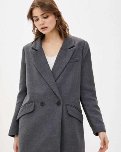 Серое пальто двубортное W.sharvel