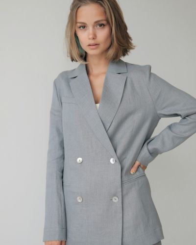 Льняной пиджак - серый Stl.katin