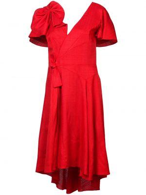 Платье мини короткое - красное Delpozo