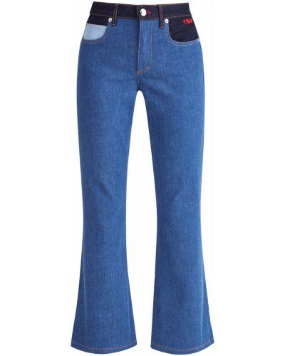 Расклешенные джинсы с вышивкой классические Sonia Rykiel