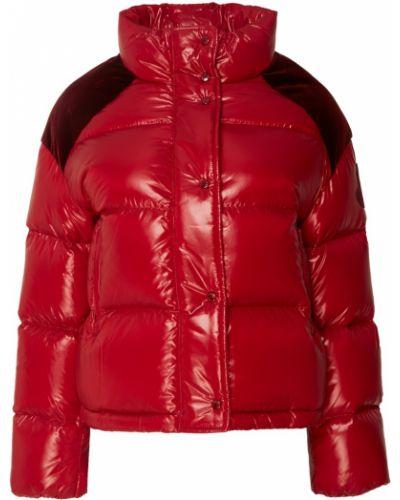 Стеганая куртка велюровая укороченная Moncler