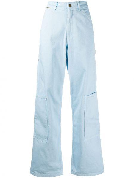 Широкие джинсы синие на пуговицах Marc Jacobs