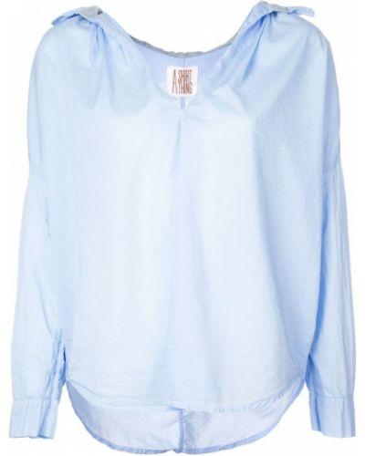 Синяя рубашка с оборками A Shirt Thing