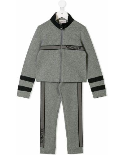 Спортивный костюм серый эластичный Moncler Kids