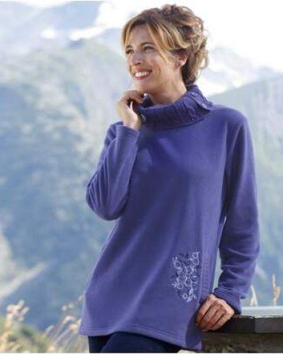 Фиолетовая вязаная туника с вышивкой Atlas For Men