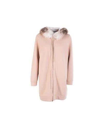 Пальто бежевое шерстяное Blumarine