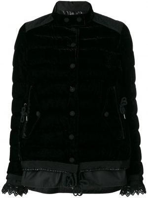 Czarna kurtka pikowana bawełniana Moncler