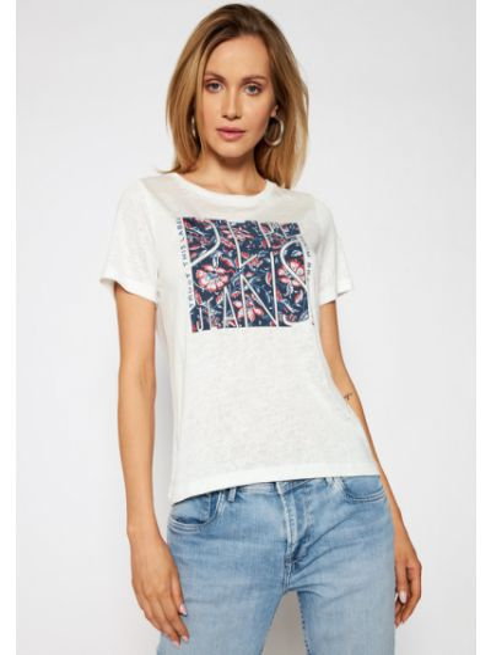 Biały koszula jeansowa Pepe Jeans