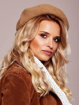 Brązowy beret wełniany Fashionhunters