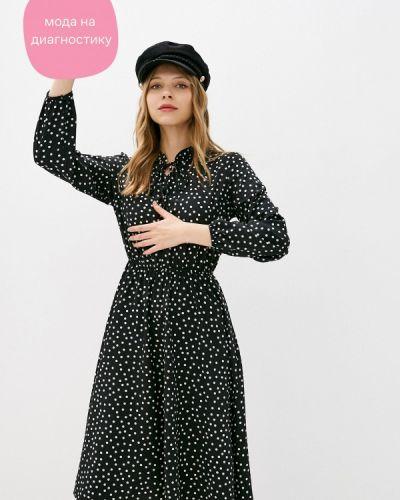 Черное прямое платье Froggi