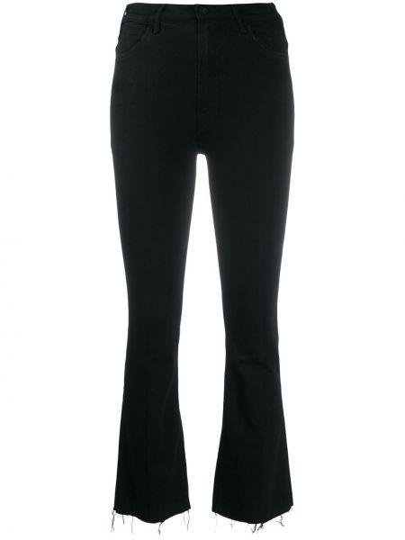 Расклешенные джинсы черные на пуговицах Mother