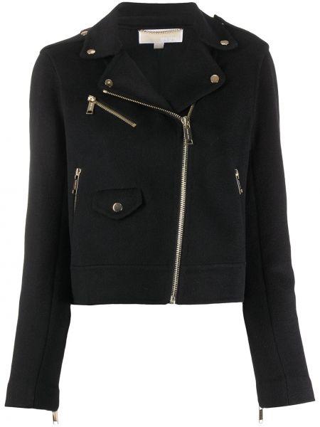 Черная куртка на молнии байкерская Michael Michael Kors