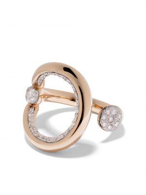 Кольцо с бриллиантом - белое Pomellato