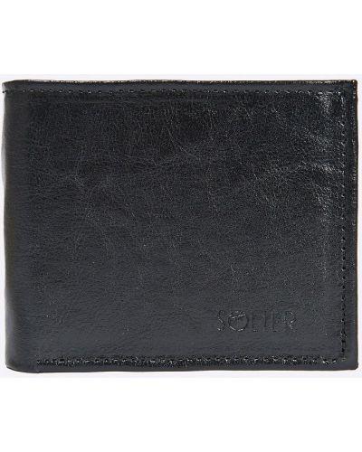 Черный кошелек кожаный Solier