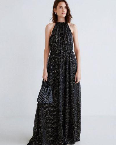 Вечернее платье весеннее черное Mango