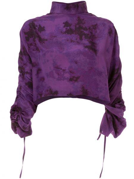 Шелковый топ - фиолетовый Strateas Carlucci