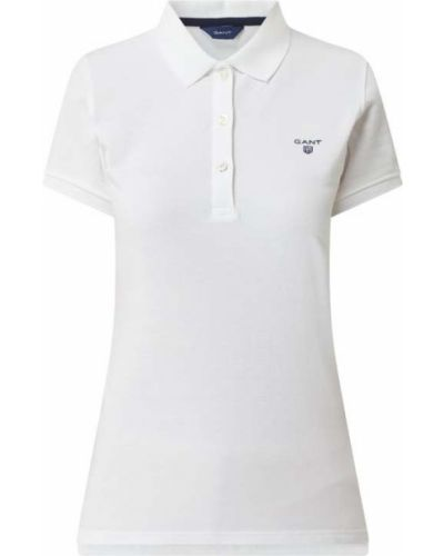 T-shirt bawełniana - biała Gant