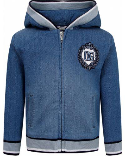 Хлопковая синяя толстовка Dolce & Gabbana