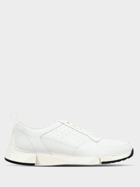 Кожаные кроссовки - белые Clarks