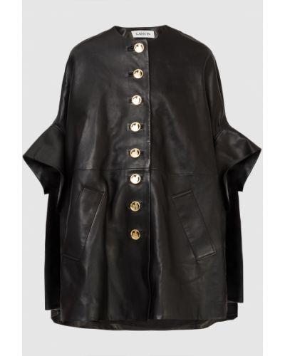 Кожаное пальто - черный Lanvin