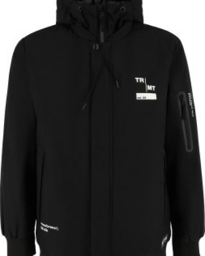 Черная утепленная куртка на молнии с капюшоном Termit