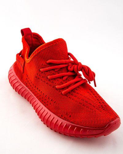Текстильные красные кроссовки Meitesi