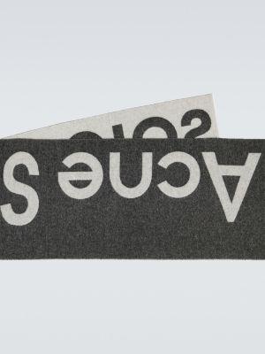 Miękki wełniany czarny szalik Acne Studios