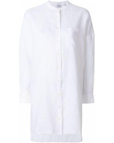 Белая рубашка без воротника Aspesi