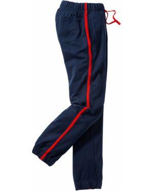 Спортивные брюки с лампасами со шнурком Bonprix