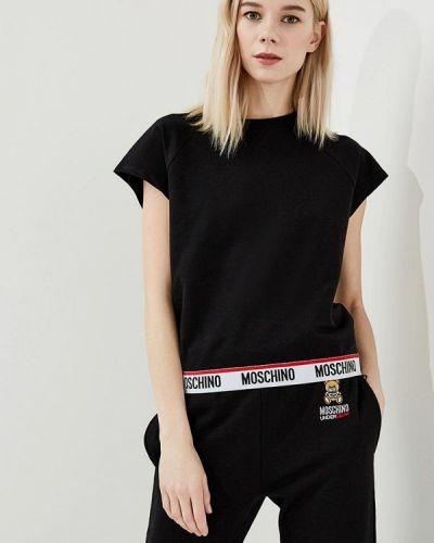 Черная футболка Moschino