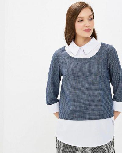Блузка с длинным рукавом синяя весенний Grafinia