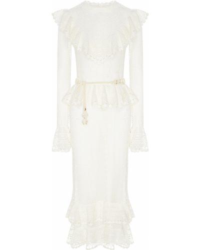 Платье миди в стиле бохо с поясом Zimmermann