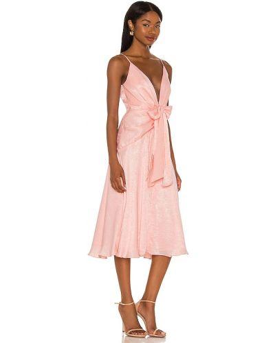 Różowa sukienka na wesele z siateczką Katie May