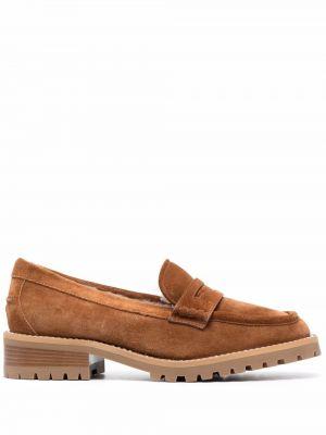 Loafers na obcasie - brązowe Jimmy Choo