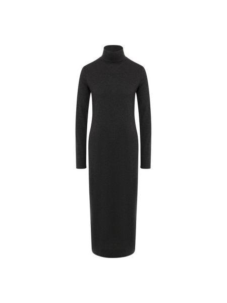 Платье серое из вискозы Polo Ralph Lauren