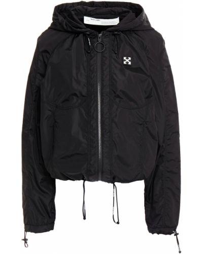Текстильная черная облегченная куртка с капюшоном Off-white
