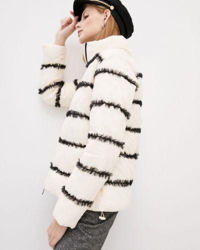 Теплая белая утепленная куртка Twinset Milano