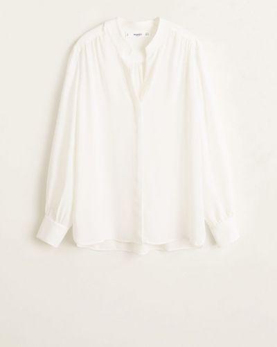 Блузка с длинным рукавом прямая на пуговицах Mango