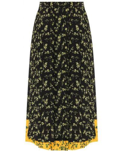 Плиссированная юбка шелковая No. 21