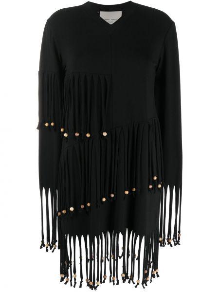 Платье макси с длинными рукавами - черное Frankie Morello