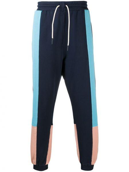 Niebieskie joggery bawełniane Drole De Monsieur
