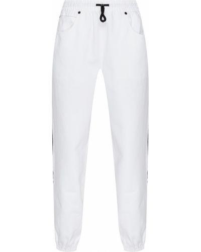 Свободные брюки с лампасами белые Alexander Wang