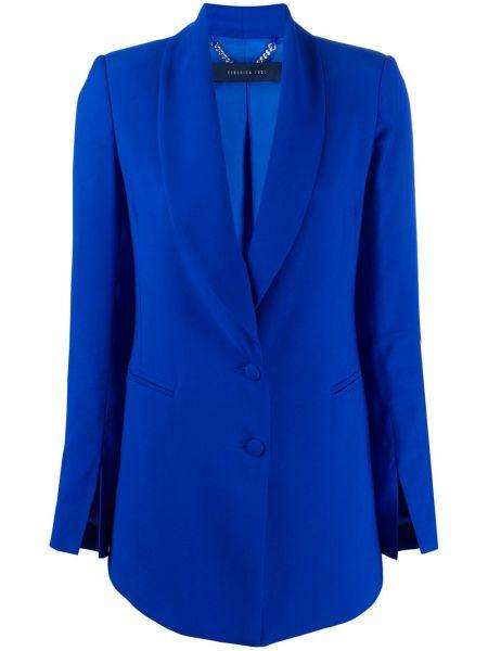Синий удлиненный пиджак Federica Tosi